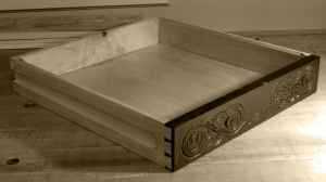 Carved Drawer Sepia